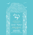blue and white baby shower invitation template vector image vector image