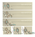 boho banners vector image vector image