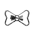 bow accessory icon vector image vector image