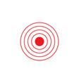bright red circles logo vector image vector image