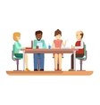 Business briefing flat design characters vector image vector image
