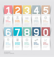 business brochures template paper folding style vector image vector image