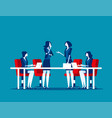 business meeting group company strategy vector image