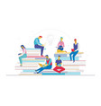 business team searching for ideas - flat design vector image vector image