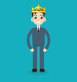 businessman crown vector image vector image