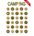 Camping icons Flat vector image vector image