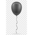celebratory transparent black balloon pumped vector image vector image