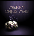 christmas background with shiny volumetric balls vector image vector image
