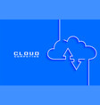 cloud computing concept visualization in line vector image