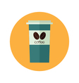 Coffee paper cup to go vector image