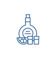 cognac line icon concept cognac flat vector image vector image
