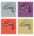 Concept of flat icons with long shadow find money vector image vector image