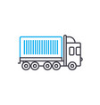 container carriage thin line stroke icon vector image vector image