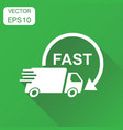 delivery truck icon business concept fast vector image vector image