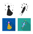 design of party and birthday icon set of vector image vector image
