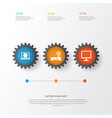digital icons set collection of router desktop vector image vector image
