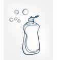 dishwashing liquid line art sketch outline vector image