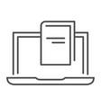 e-book thin line icon reading vector image vector image