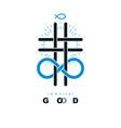 everlasting god creative symbol design combined vector image vector image