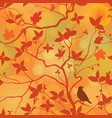 fall leaves floral seamless pattern autumn forest vector image vector image