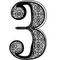 Fashion font vector image
