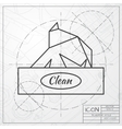 flat box with napkin vector image vector image
