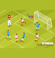football training kids background vector image vector image
