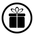 Gift button on white vector image vector image