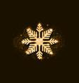 gold glitter snowflake golden glittering vector image vector image