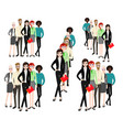 group working people on white background vector image vector image