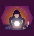 gypsy fortune tellers using magic ball art vector image