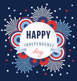 happy independence day 4th july national holiday vector image vector image