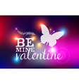 Happy Valentines day blurred abstract card vector image