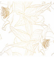 hellebore floral foliage garland seamless pattern vector image vector image