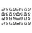 human emoticons set vector image vector image
