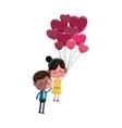 kawaii couple in love vector image vector image