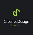 letter s outline creative business modern logo vector image vector image