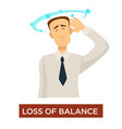 loss of balance dizziness stroke symptom disease vector image vector image