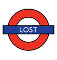 lost on the underground vector image vector image