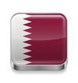 Metal icon of Qatar vector image vector image
