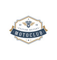 moto club logo template design element vector image vector image
