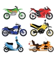 motorcycles moto bike vector image