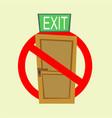 no exit sign vector image