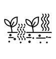 planting and agriculture soil fertilization and vector image vector image