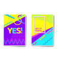 poster templates memphis stile vector image vector image
