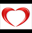 red heart charity logo vector image vector image