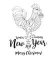 Rooster symbol of 2017 on the Chinese calendar vector image vector image