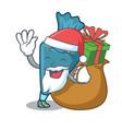 santa with gift pastrybag mascot cartoon style vector image vector image