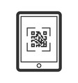 scaning qr code icon telephone business vector image vector image