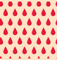 seamless pattern with red drops vector image vector image
